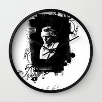 beethoven Wall Clocks featuring Beethoven by viva la revolucion