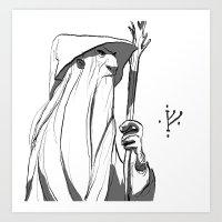 gandalf Art Prints featuring Gandalf by 4nima