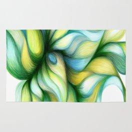 Flowering Jades of Aqua Rug