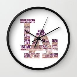 lakers font Wall Clock