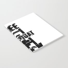 Free The Squat Rack Workout Apparel Black Fill Notebook