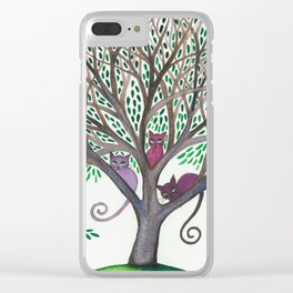 Morovis Stray Cats in Tree Clear iPhone Case