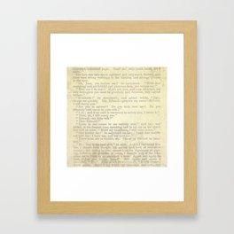 Jane Eyre, Mr. Rochester Proposal by Charlotte Bronte Framed Art Print