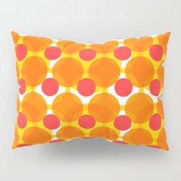 Circular Peach Pattern Pillow Sham
