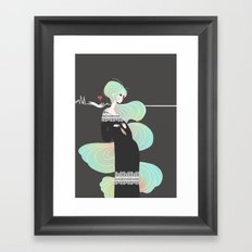 Love in Black Framed Art Print