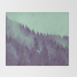 Adventure Awaits Forest Throw Blanket