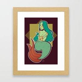 The little angry mermaid Framed Art Print