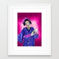 nori Framed Art Prints featuring Maiko Nori by Coconut Lime Design