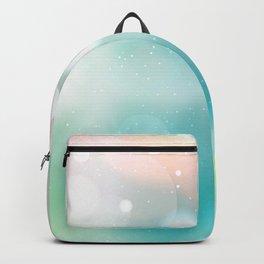 Bokeh Sparkle Aqua Lime White Lights Pattern Backpack