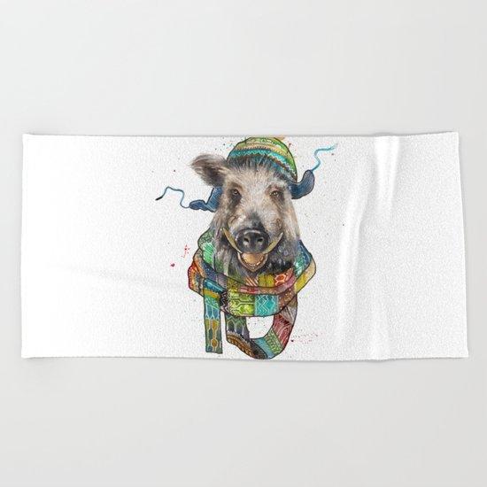 Jolly Boar Beach Towel