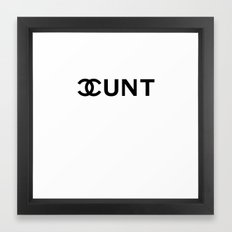 Couture Cunt Framed Art Print
