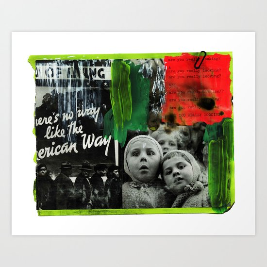 two russian boys looking  Art Print