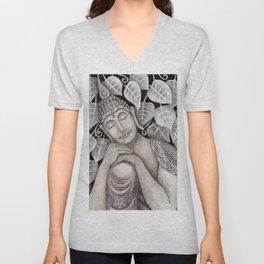 Buda meditando Unisex V-Neck