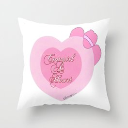 """Cowgirl At Heart II"" Throw Pillow"