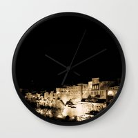 medieval Wall Clocks featuring Medieval Night by Schwebewesen • Romina Lutz