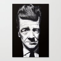 david lynch Canvas Prints featuring David Lynch by Black Neon