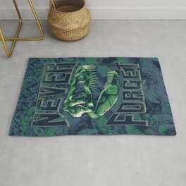 Never Forget T-Rex Rug
