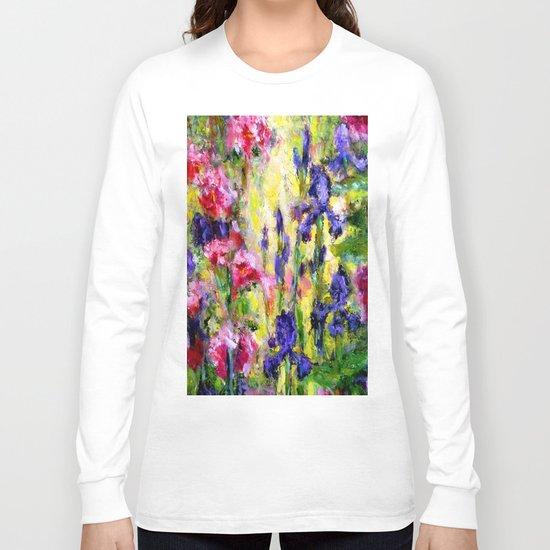 Purple Iris Garden Long Sleeve T-shirt