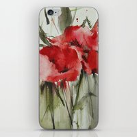 poppy iPhone & iPod Skins featuring poppy# by annemiek groenhout