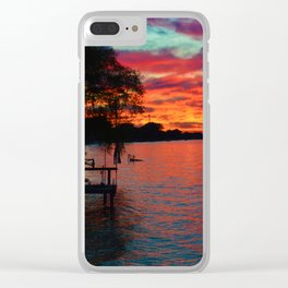 Sunset on Lake St. Clair in Belle River, Ontario, Canada Clear iPhone Case