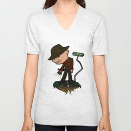 Freddy Krueger Cartoon Unisex V-Neck