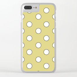 Yellow Pastel Polka Dots Clear iPhone Case