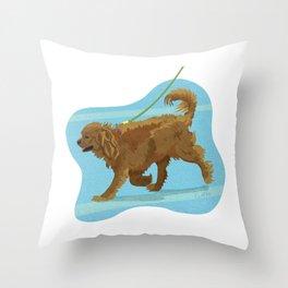 English Toy Spaniel Dog Art Illustration Throw Pillow