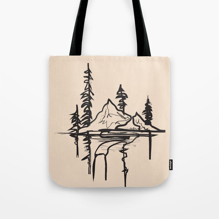 Abstract Landscpe Tote Bag
