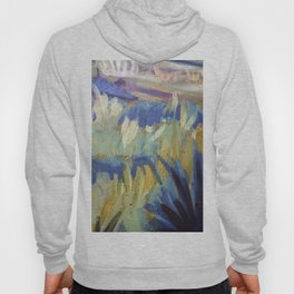 Dreamy Abstract Flowers Painting Hoody