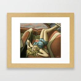 Pin Up Framed Art Print