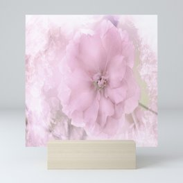 Pink Smoked Floral Mini Art Print