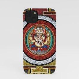 Ganesh Hindu Mandala Meditation Deity iPhone Case