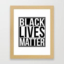 Black Lives Matter Framed Art Print