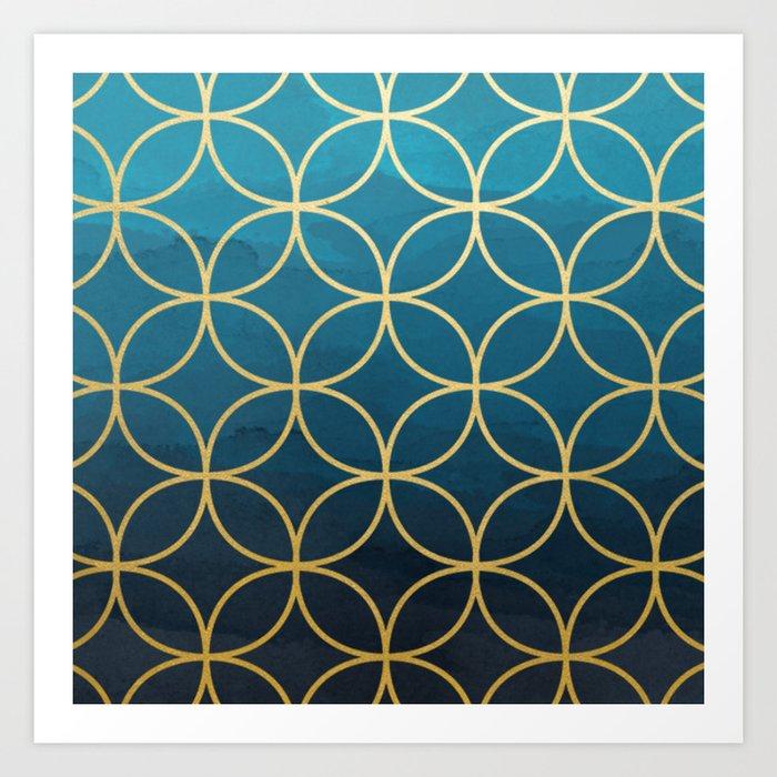 Blue Hue Art Print