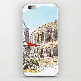 Sketches from Italy - Verona iPhone Skin