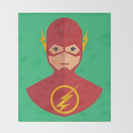flat for flash Throw Blanket
