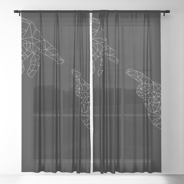Michelangelo Reloaded (in black) Sheer Curtain