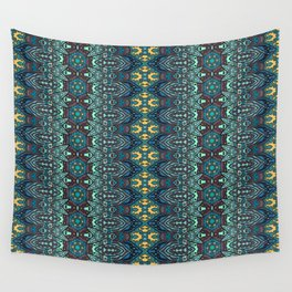 Vintage tribal aztec pattern Wall Tapestry