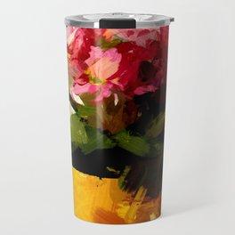 Gelber Becher mit Blumen Travel Mug