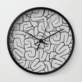 Guts or Brains - Grey Wall Clock