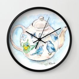 Tea in Wonderland Wall Clock
