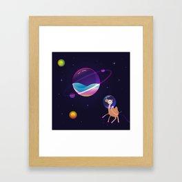 Camel in Space Framed Art Print