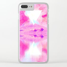 Pink Swimming Pool by GEN Z Clear iPhone Case
