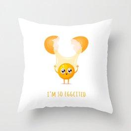 I'm so Eggcited Throw Pillow