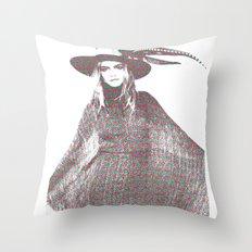 Cara Delevingne: Issa Throw Pillow