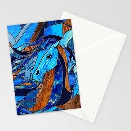 Aquarius Horse Mixed media Abstract Stationery Cards