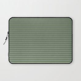 Small Dark Forest Green Mattress Ticking Bed Stripes Laptop Sleeve