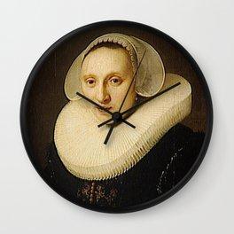 Rembrandt - Portrait of Cornelia Pronck Wall Clock