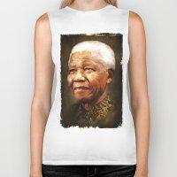 mandela Biker Tanks featuring Mandela by Kimberley Britt