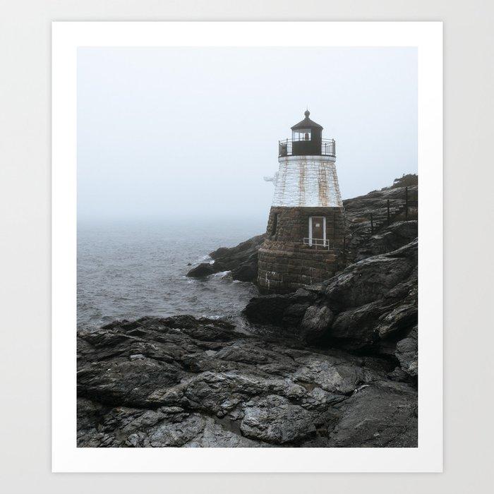 Castle Hill Lighthouse, Rhode Island Art Print